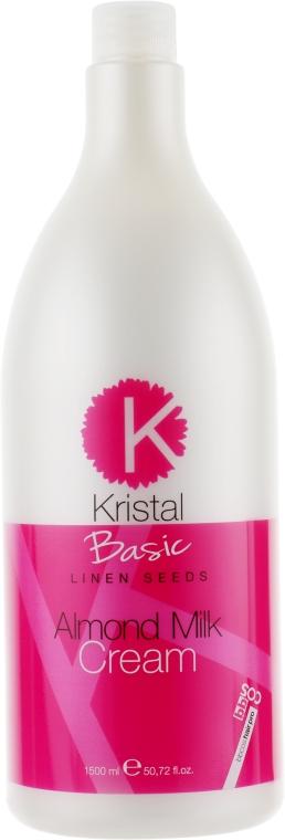 Бальзам с миндальным молочком для волос - BBcos Kristal Basic Linen Seeds Almond Milk