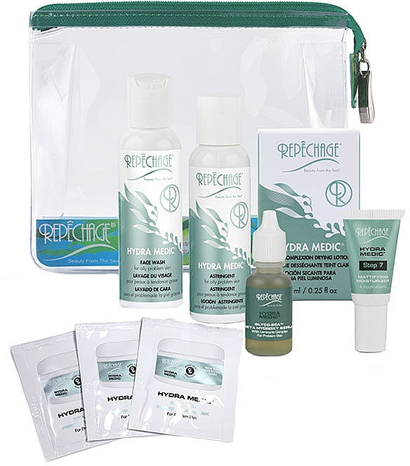 Набор - Repechage Hydra Medic Travel Collection (f/gel/59ml + f/lot/59ml + f/cr/7ml + f/serum/15ml + f/lot/7.5ml + f/mask/3pcs)