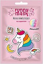 """Духи, Парфюмерия, косметика Увлажняющая маска-патч для лица """"Радужный единорог"""" - Marion Funny Mask"""