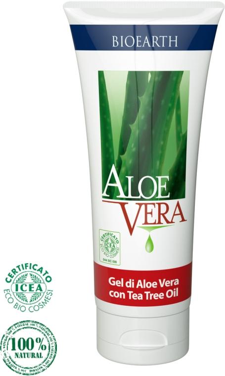 Гель для лица с алоэ вера - Bioearth Aloe Vera gel with Organic Tea Tree