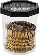Парфумерія, косметика Невидимки хвилясті для волосся 4 см, золотисті - Lussoni Waved Hair Grips Golden