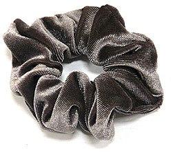 Духи, Парфюмерия, косметика Резинка для волос велюровая P1600-4, 11 см d-5,5 см, мокко - Akcent