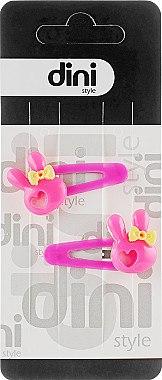 "Заколка-лапка ""Зайчик"", d-394, розовая - Dini Kids — фото N1"