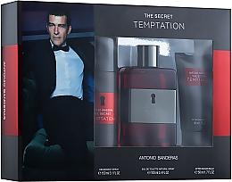 Парфумерія, косметика Antonio Banderas The Secret Temptation - Набір (edt/100ml + deo/150ml + ash/balm/50ml)