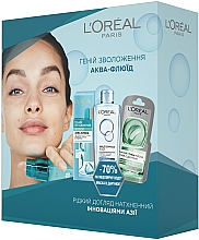 "Духи, Парфюмерия, косметика Набор ""Гений Увлажнения"" - L'Oréal Paris (micell/water/200ml + mask/6ml + fluid/70ml)"