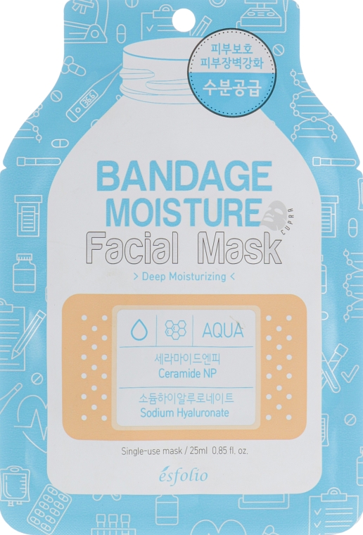 """Маска для лица """"Увлажняющая"""" - Esfolio Bandage Moisture Facial Mask"""