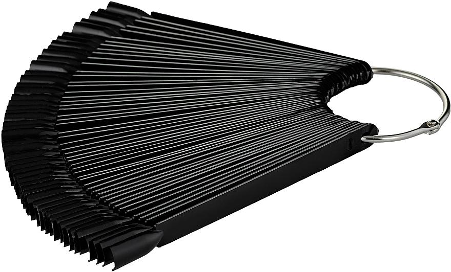 Черные выставочные типсы на колечке - Мир Леди