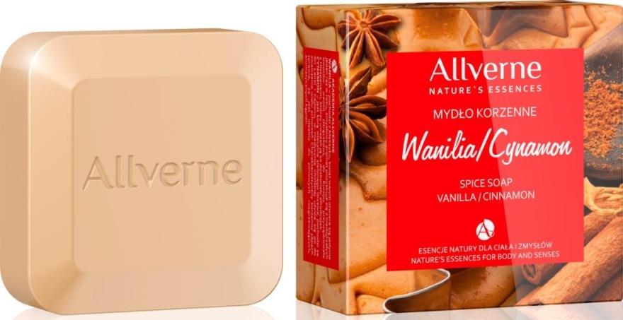 Пряное мыло с ванилью и корицей - Allverne Nature's Essences Vanilia & Cynamon Spice Soap