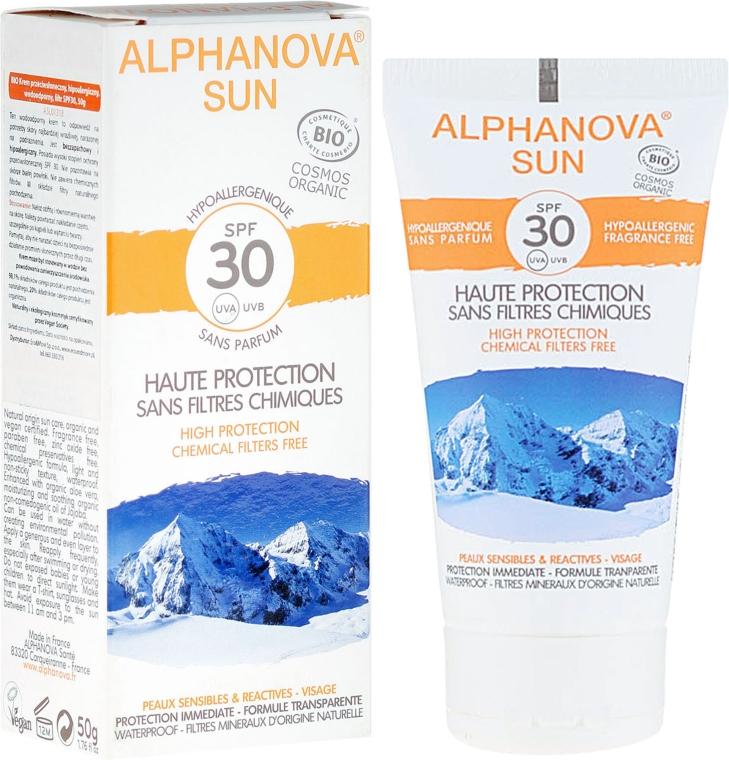 Солнцезащитный крем - Alphanova Sun SPF 30 Sans Parfum Bio
