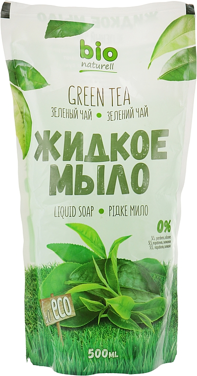 """Жидкое мыло """"Зеленый чай"""" - Bio Naturell (дой-пак)"""