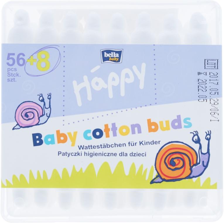 Ватные палочки с ограничителем, 56 шт - Bella Baby Happy