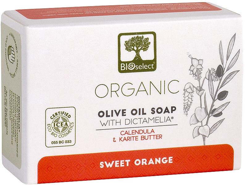 Натуральное оливковое мыло с календулой и маслом карите - BIOselect Pure Olive Oil Soap