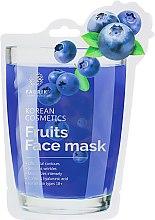 Духи, Парфюмерия, косметика Маска для лица увлажняющая с экстрактом черники - Fabrik Cosmetology Fruits Face Mask