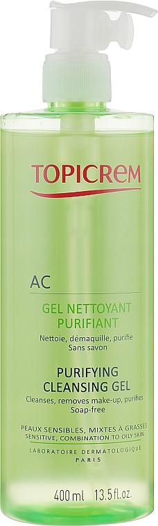 Очищающий себорегулирующий гель - Topicrem Purifying Cleansing Gel