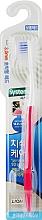 Духи, Парфюмерия, косметика Зубная щетка с ультратонкими щетинками, средней жесткости, малиновая - CJ Lion Systema Dental Toothbrush