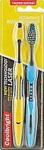 """Духи, Парфюмерия, косметика Инновационная зубная щетка """"Laser Technology"""" средняя 1+1, желтая + синяя - Coolbright"""