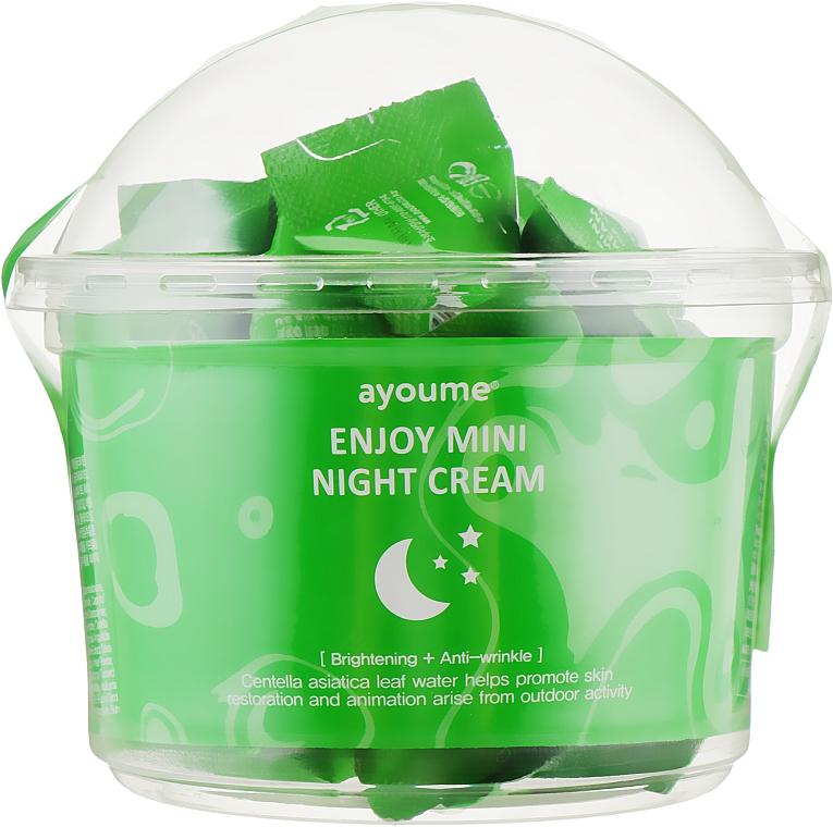 Ночной крем для лица с центеллой азиатской - Ayoume Enjoy Mini Night Cream