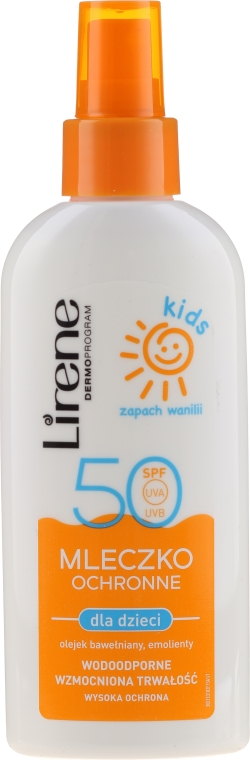 Защитное молочко-спрей для загара SPF 50 - Lirene Kids Sun Protection Milk Spray SPF 50