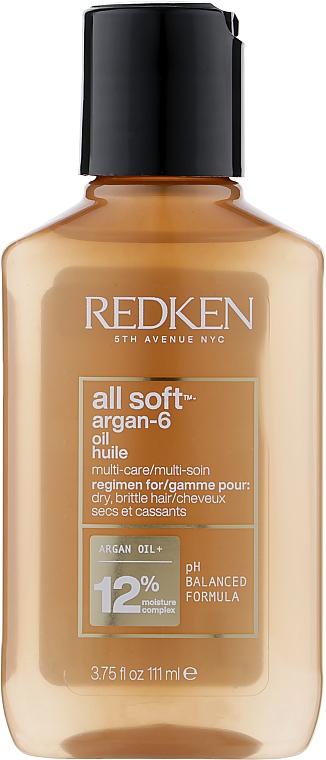 Аргановое масло для сухих и ломких волос - Redken All Soft Argan-6 Multi-Care Oil