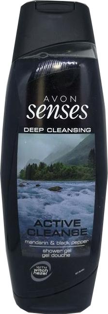 Гель для душа с мандарином и черным перцем - Avon Senses Active Cleanse Shower Gel