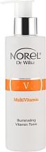 Духи, Парфюмерия, косметика Осветляющий витаминный тоник для лица - Norel MultiVitamin Illumination Vitamin Tonic