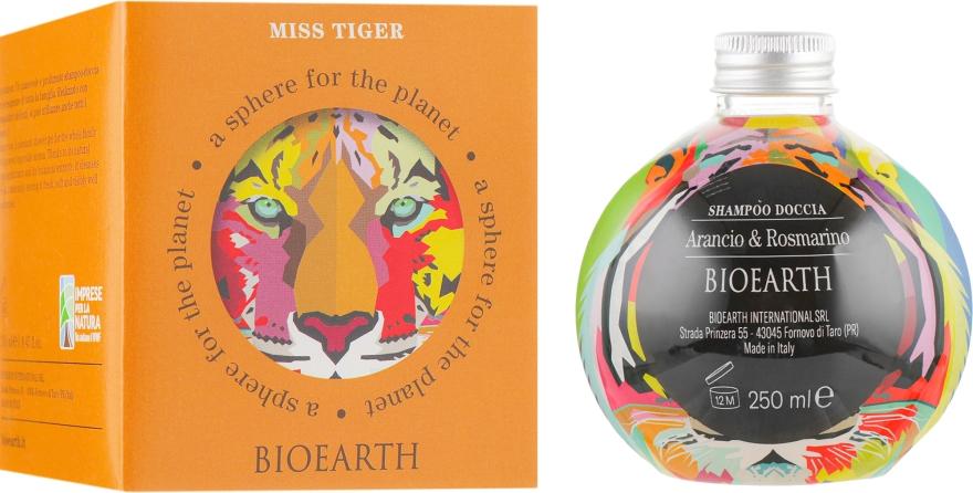 """Шампунь-гель для душа """"Апельсин и розмарин"""" - Bioearth Miss Tiger"""