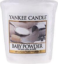 Ароматическая свеча - Yankee Candle Scented Votive Baby Powder — фото N1