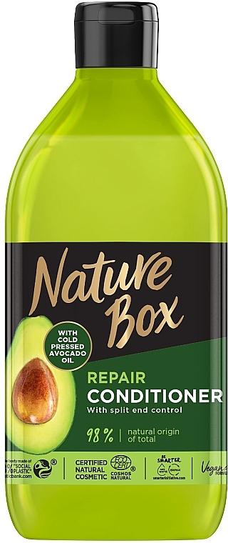 Бальзам для восстановления волос и против секущихся кончиков с маслом авокадо холодного отжима - Nature Box Repair Vegan Conditioner With Cold Pressed Avocado Oil