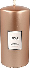 Духи, Парфюмерия, косметика Декоративная перламутровая свеча, 14 см, розово-золотая - Artman Opal Candle