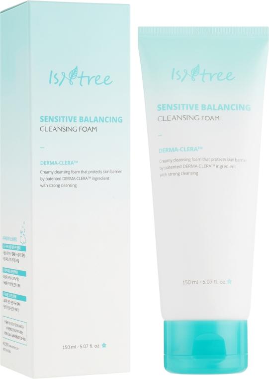 Балансирующая пенка для чувствительной кожи - IsNtree Sensitive Balancing Cleansing Foam