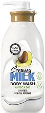 "Духи, Парфюмерия, косметика Крем-гель для душа ""Авокадо"" - Happy Bath Creamy Milk Body Wash Avocado"