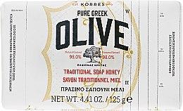Духи, Парфюмерия, косметика Традиционное мыло с оливой и медом - Korres Pure Greek Olive Green Soap Honey