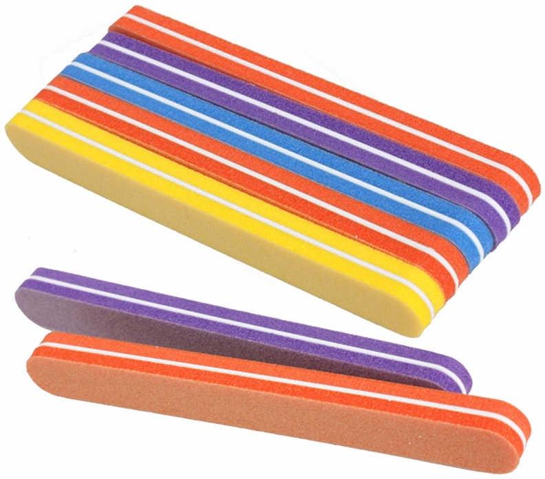 Баф полировочный одноразовый овальный 100х180, разноцветный - Puffic Fashion PF-20
