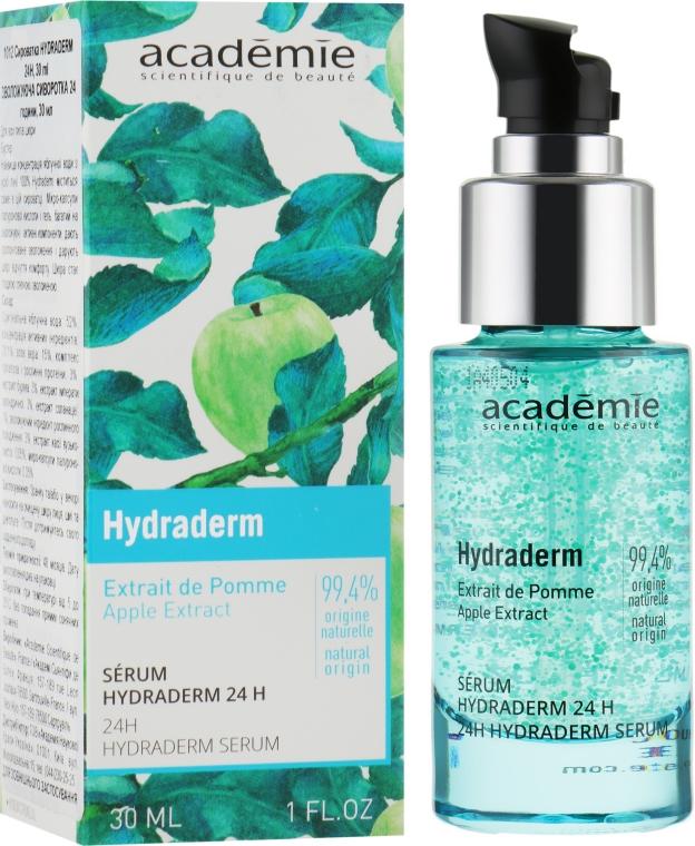 Суперувлажняющая сыворотка с экстрактом яблока - Academie Visage Hydraderm Serum 24h