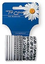 Духи, Парфюмерия, косметика Резинки для волос с узором 12 шт, белый mix, 21404 - Top Choice