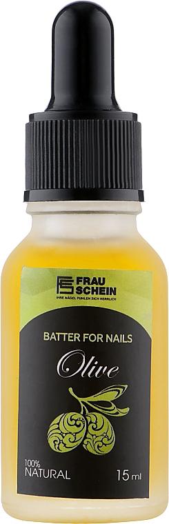 """Баттер жидкий для ногтей и кутикулы """"Олива"""" с пипеткой - Frau Schein Batter For Nails Olive"""
