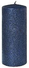 Духи, Парфюмерия, косметика Декоративная свеча, синяя, 7x18 см - Artman Glamour