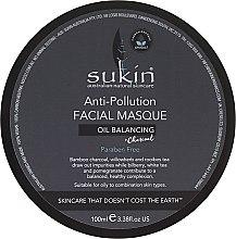 Духи, Парфюмерия, косметика Маска для лица против загрязнений - Sukin Oil Balancing + Charcoal Anti-Pollution Facial Masque