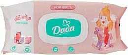 Духи, Парфюмерия, косметика Влажные салфетки без запаха для девочек, с клапаном - Dada Wipes For Girls