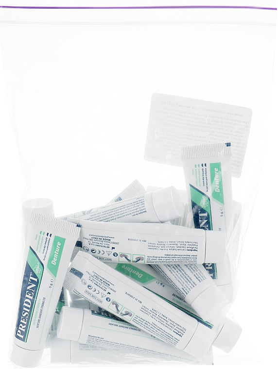 Набор клейкого крема для протезов - PresiDent Clinical Denture (oral/cr/12x5g)
