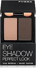 Духи, Парфюмерия, косметика Тени компактные для век, двойные - Pudra Cosmetics Eye Shadow