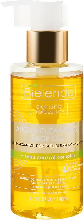 """Очищающее аргановое масло для лица с комплексом """"Sebu Control"""" - Bielenda Skin Clinic Professional"""