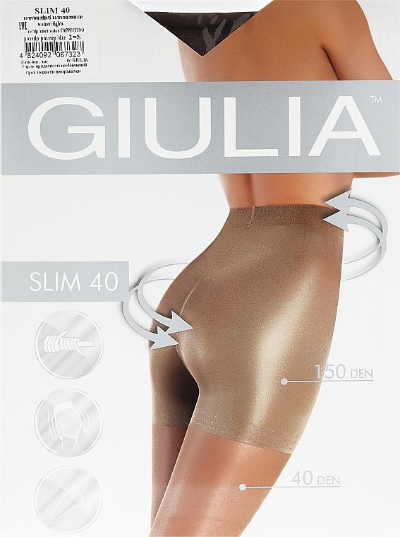 """Колготки для женщин """"Slim"""" 40 den, cappuccino - Giulia"""