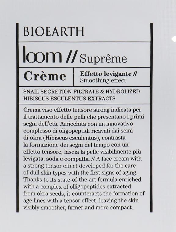 Крем для лица - Bioearth Loom Supreme Creme (пробник)