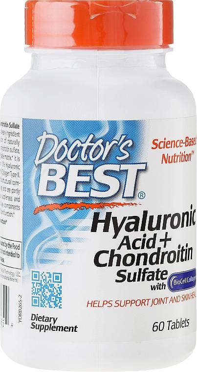 Гиалуроновая кислота с Хондроитин сульфатом и коллагеном - Doctor's Best Hyaluronic Acid with Chondroitin Sulfate Capsules