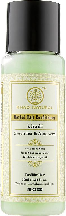 """Аюрведический бальзам-кондиционер для волос """"Зеленый чай и алоэ вера"""" - Khadi Natural Aloevera Herbal Hair Conditioner"""