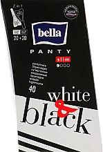 Духи, Парфюмерия, косметика Прокладки Panty Black & White, 40 шт - Bella