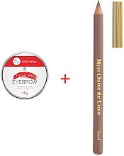 Духи, Парфюмерия, косметика Набор для макияжа бровей - Miss Claire (eyebrow/pencil/4g + wax/15g)