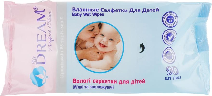 Влажные салфетки для детей, 90 шт - Air Dream