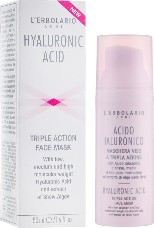 Маска с гиалуроновой кислотой для лица - L'Erbolario Acido Ialuronico Maschera Viso a Tripla Azione